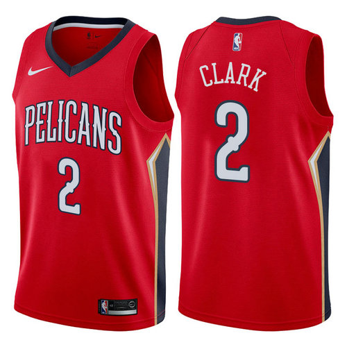 maglia lan clark 2 2017-2018 new orleans pelicans rosso