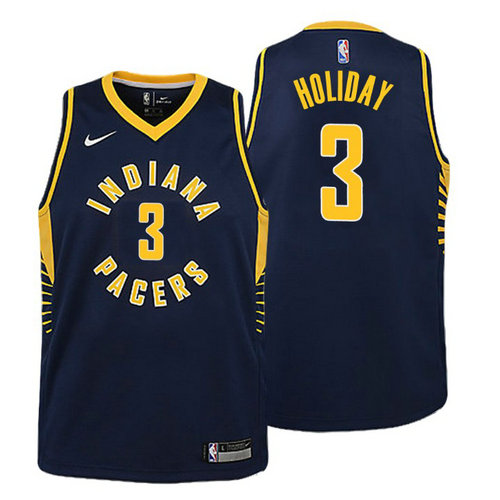 canotta basket indiana pacers bambino 2018 aaron holiday 3 navy