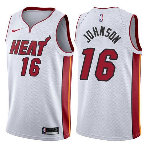maglia james johnson 16 2017-2018 miami heat bianca