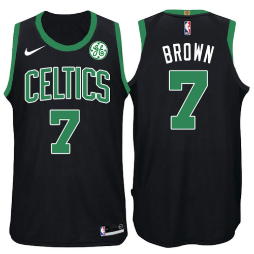 maglia jaylen brown 7 2017-2018 boston celtics nero