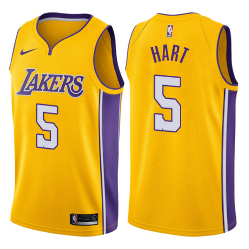 Divise Los Angeles Lakers canotta josh hart 5 2017-2018 los angeles ... 4a679b4a608a
