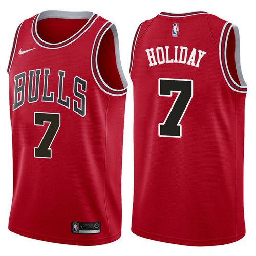 canotta basket justin holiday 7 2017-2018 chicago bulls rosso