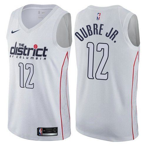 maglia nba kelly oubre jr. 12 2017-2018 washington wizards bianca
