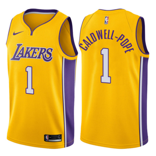 maglia kentavious caldwell pope 1 2017-2018 los angeles lakers giallo