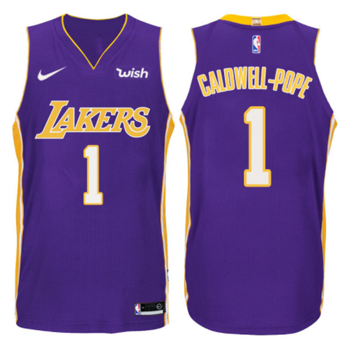 maglia kentavious caldwell pope 1 2017-2018 los angeles lakers porpora
