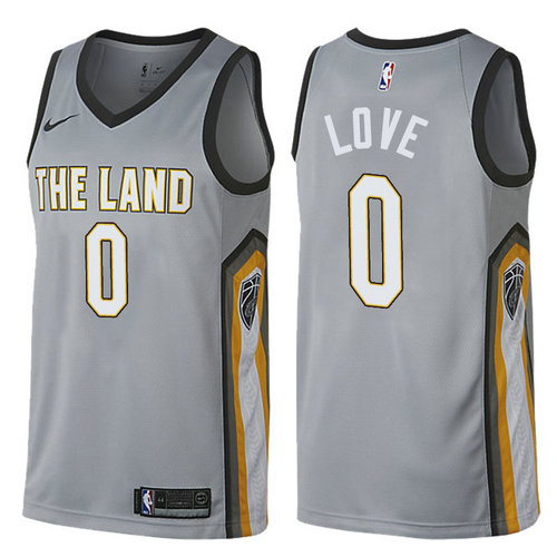 Maglie Basket kevin love 0 2017-2018 cleveland cavaliers grigio