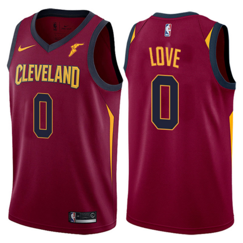 Maglie Basket kevin love 0 2017-2018 cleveland cavaliers Rosso