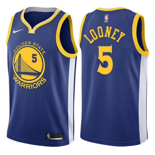 maglia nba kevon looney 5 2017-2018 golden state warriors blu