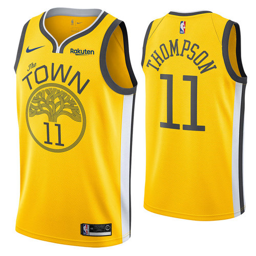 maglia klay thompson 11 2018-2019 golden state warriors d'oro