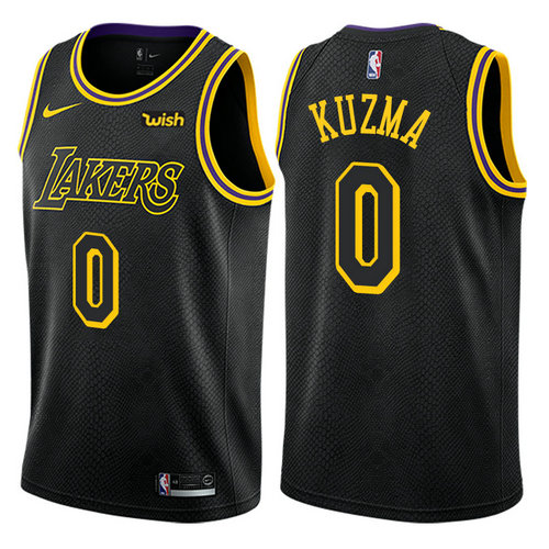 canotta kyle kuzma 0 2017-2018 los angeles lakers nero
