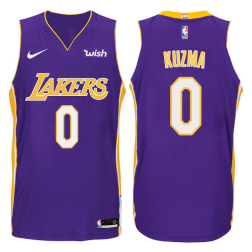 canotta kyle kuzma 0 2017-2018 los angeles lakers porpora