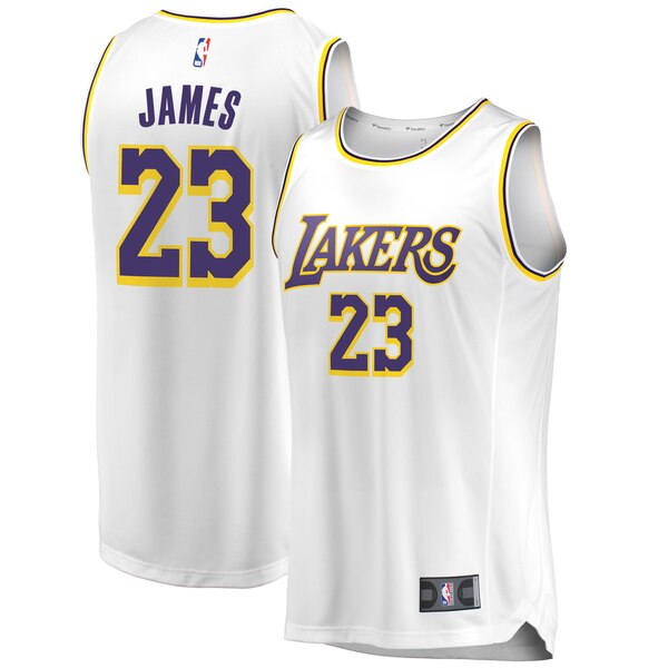 maglia lebron james 23 2020 los angeles lakers bianca
