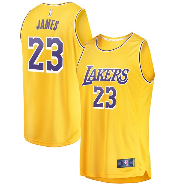 maglia lebron james 23 2020 los angeles lakers giallo