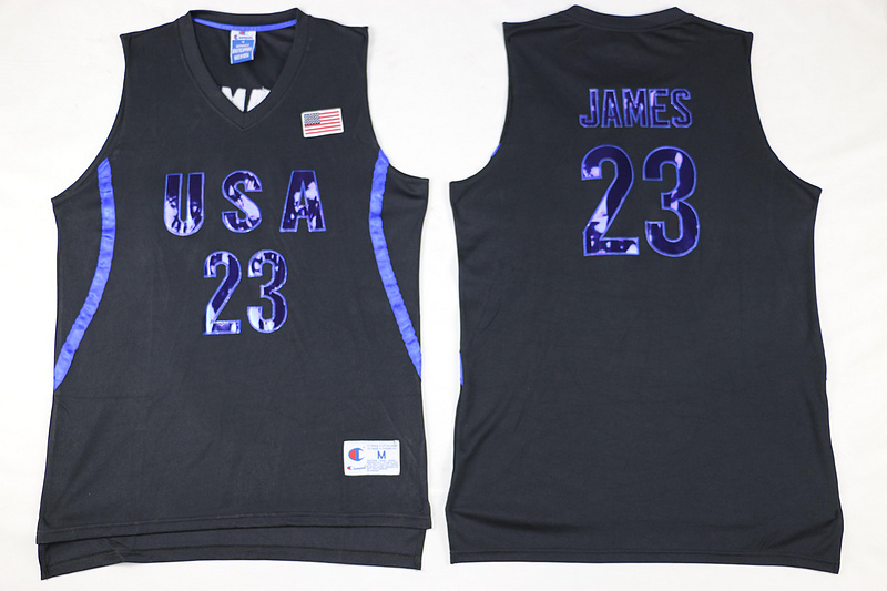 canotta lebron james 23 nba usa olimpiadi 2016 nero