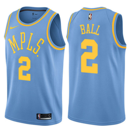 maglia lonzo ball 2 2017-2018 los angeles lakers blu