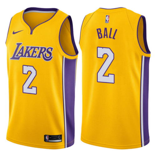 maglia lonzo ball 2 2017-2018 los angeles lakers giallo