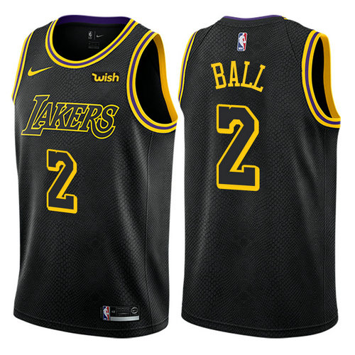 maglia lonzo ball 2 2017-2018 los angeles lakers nero