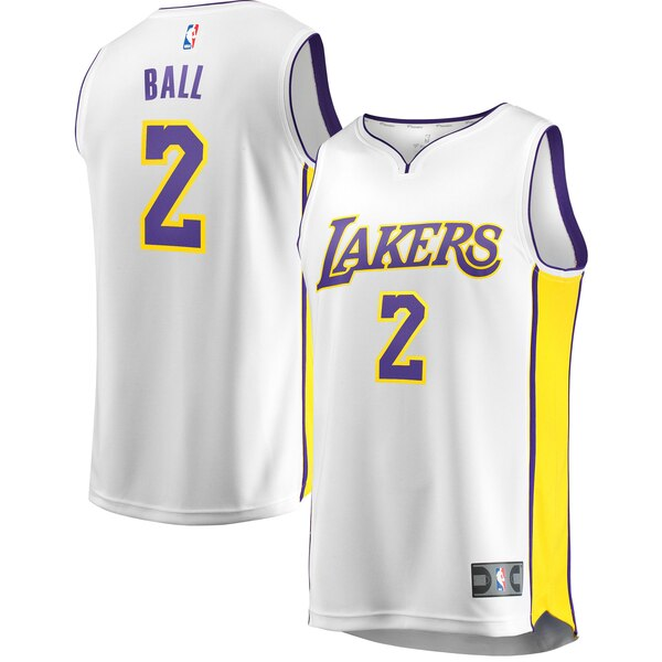 maglia lonzo ball 2 2020 los angeles lakers bianca