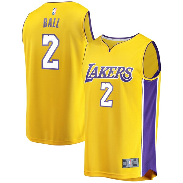 maglia lonzo ball 2 2020 los angeles lakers giallo