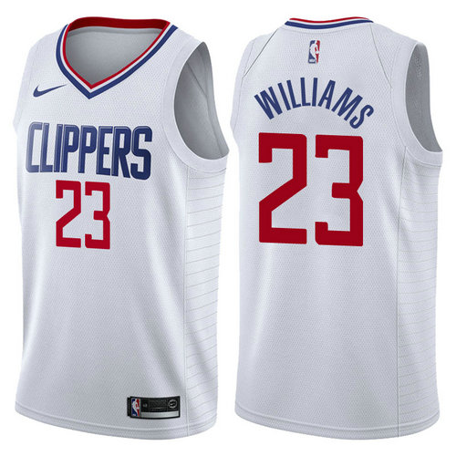 maglia lou williams 23 2017-2018 los angeles clippers bianca