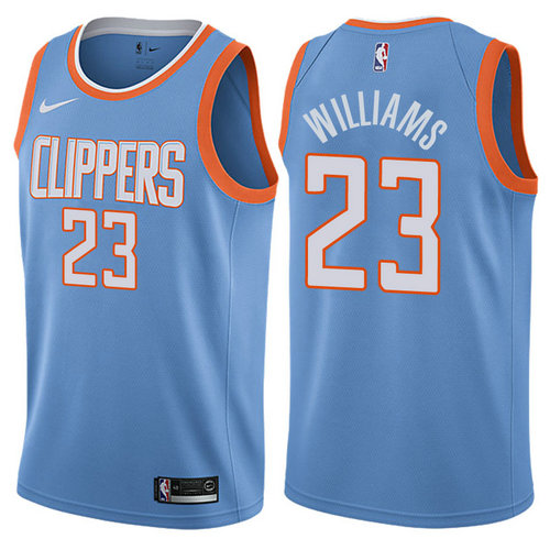 maglia lou williams 23 2017-2018 los angeles clippers blu