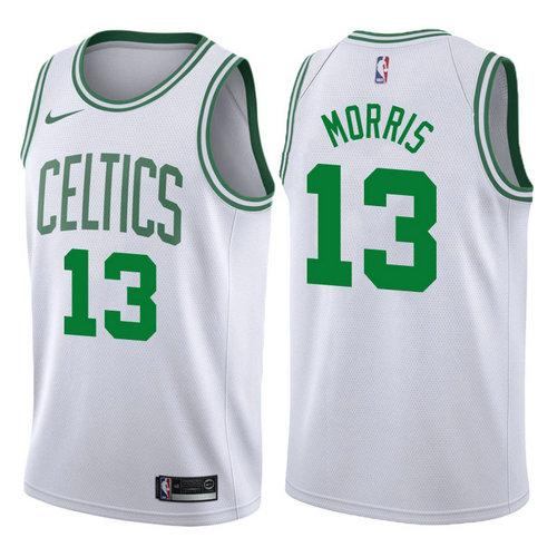 maglia basket marcus morris 13 2017-2018 boston celtics bianca