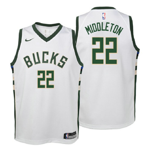 canotta milwaukee bucks bambino 2017-2018 khris middleton 22 bianca