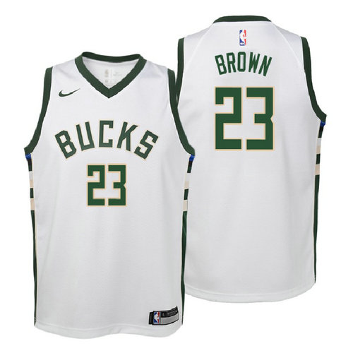 canotta milwaukee bucks bambino 2017-2018 sterling brown 23 bianca
