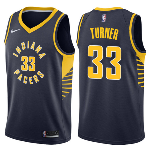 maglia myles turner 33 2017-2018 indiana pacers navy