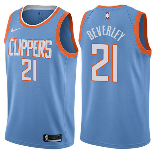 maglia patrick beverley 21 2017-2018 los angeles clippers blu