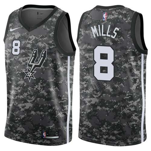 maglia nba patty mills 8 2017-2018 san antonio spurs nero