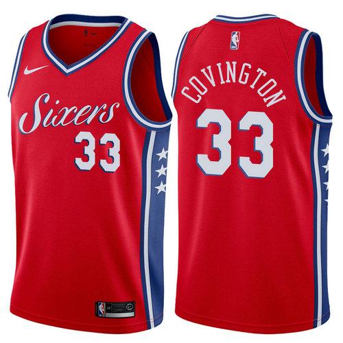 maglia basket robert covington 33 2017-2018 philadelphia 76ers rosso