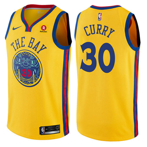maglia stephen curry 30 2017-2018 golden state warriors d'oro