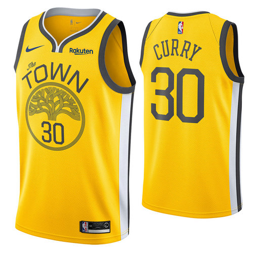 maglia stephen curry 30 2018-2019 golden state warriors d'oro