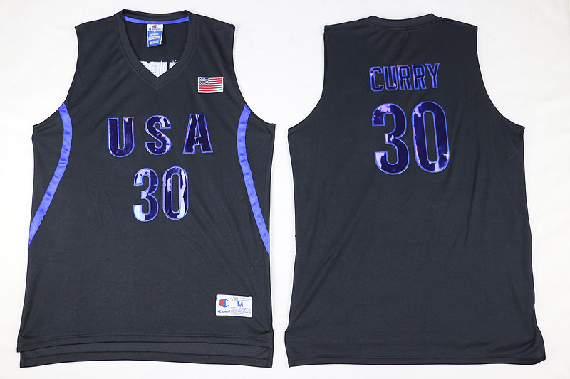 canotta stephen curry 30 nba usa olimpiadi 2016 nero