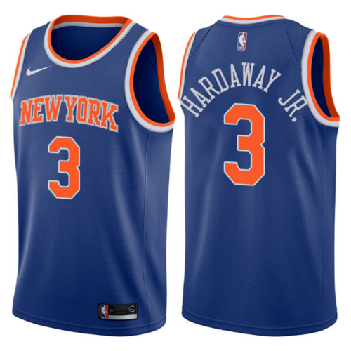 canotta basket tim hardaway jr. 3 2017-2018 new york knicks blu