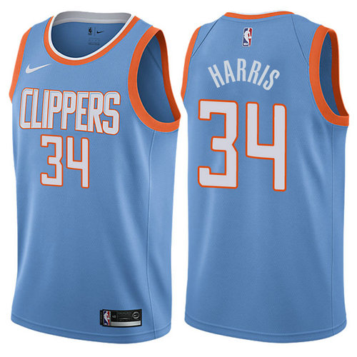maglia tobias harris 34 2017-2018 los angeles clippers blu
