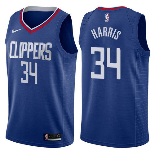 maglia tobias harris 34 2017-2018 los angeles clippers navy