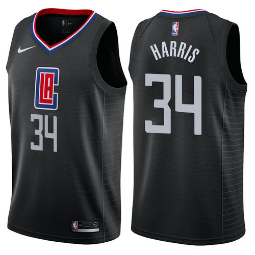 maglia tobias harris 34 2017-2018 los angeles clippers nero