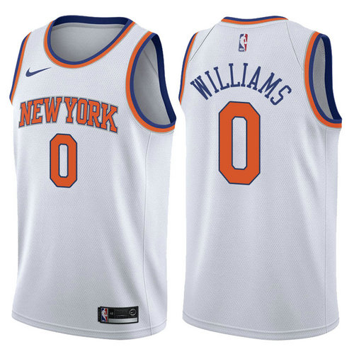 maglie troy williams 0 2017-2018 new york knicks bianca