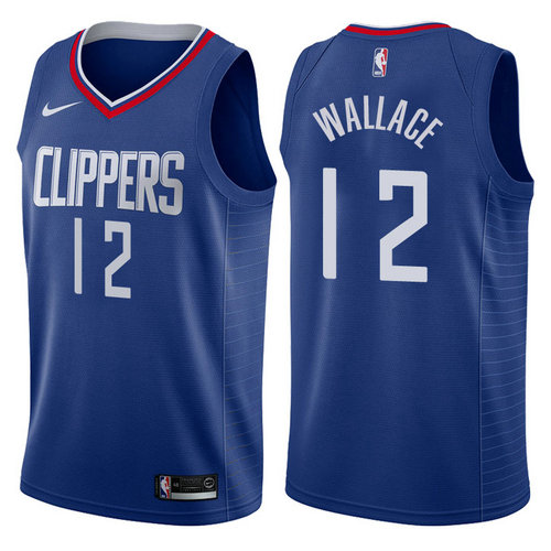 maglia nba tyrone wallace 12 2017-2018 los angeles clippers navy