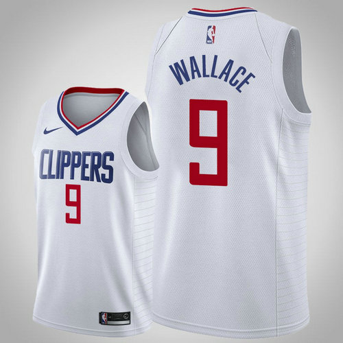 maglia tyrone wallace 9 2018-2019 los angeles clippers bianca