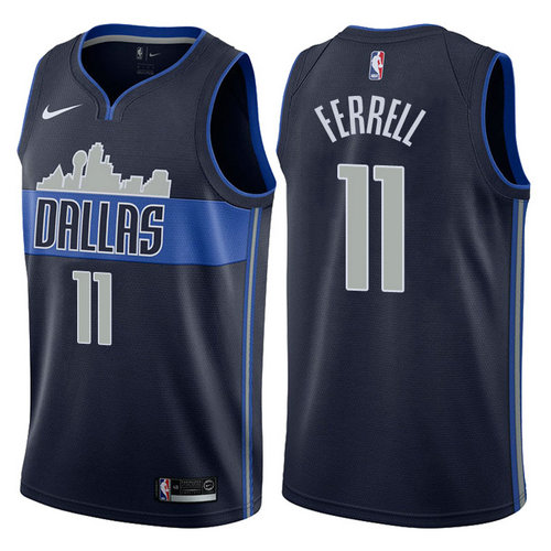 canotta basket yogi ferrell 11 2017-2018 dallas mavericks bianca