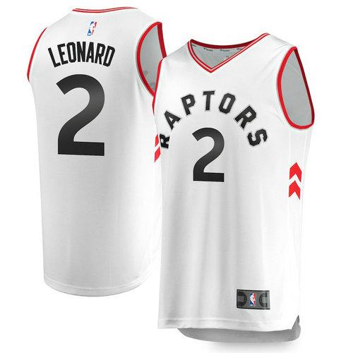 maglia basket Kawhi Leonard 2 2018-2019 toronto raptors bianca