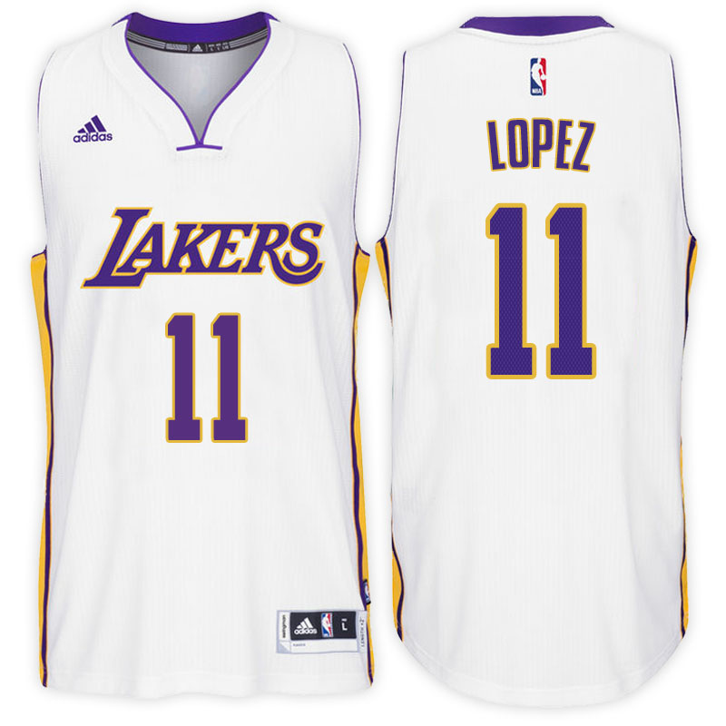 maglia brook lopez 11 2017 los angeles lakers bianca