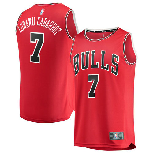 maglia chicago bulls 2019 Timothe Luwawu-Cabarrot 7 rosso