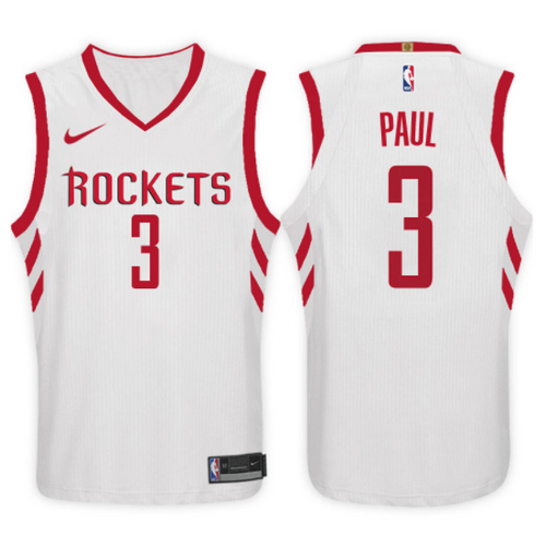 maglia chris paul 3 2017-2018 houston rockets bianca