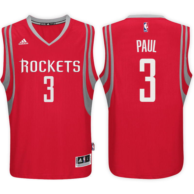 maglia basket chris paul 3 2017 houston rockets rosso