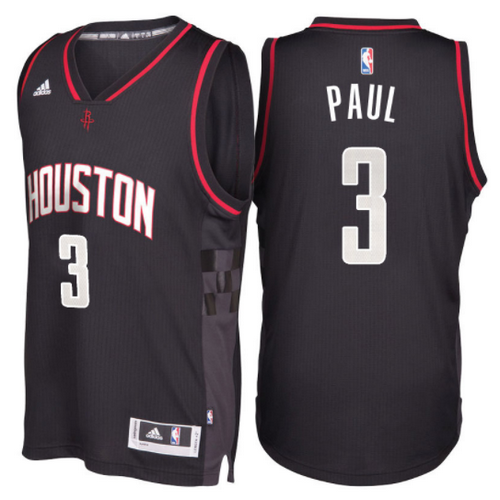 maglia chris paul 3 2017 houston rockets nero