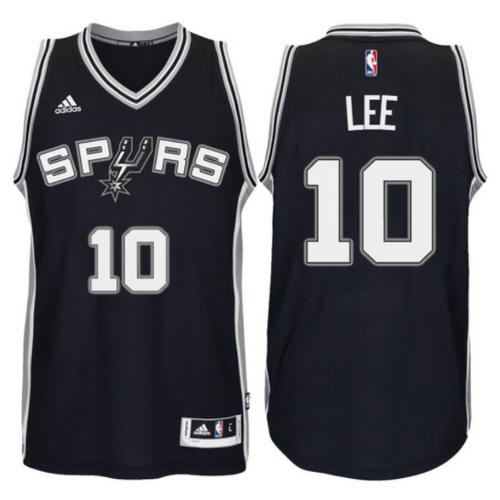 maglia basket david lee 10 2017 san antonio spurs nero